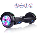Felimoda Self Balancing Hoverboards with LED Light and Carrying Case,6.5 Inch Two Wheel Smart Electric Scooter for Kids and Adults-UL2272 Certified