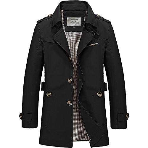 Men Black Trench Coat - 9