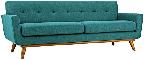 Modway Engage Mid-Century Modern Upholstered Fabric Sofa - a good cheap living room sofa
