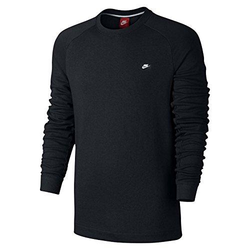 Nike Modern Crew Men's Sweat Shirt Black/White 805126-010 (Size L)