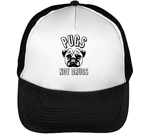 Not Pugs Graphic Beisbol Drugs Negro Blanco Gorras Hombre Snapback 1qqOdpH