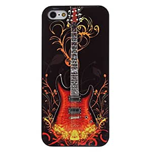 Guitar on Fire Pattern Aluminum Hard Case for iPhone 5/5S