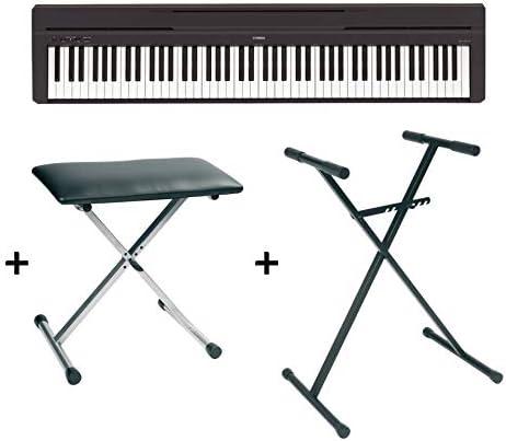 Yamaha P45 - Piano digital, soporte y asiento, color negro: Amazon ...