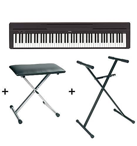Yamaha P45 - Piano digital, soporte y asiento, color negro: Amazon.es: Instrumentos musicales