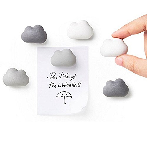 - Novelty Fridge Magnets Cloud Magnets by Qualy Design Studio. Set of 6 Message Magnets. Cloud Magnets Gradual Colors from White to Dark Grey. Can be used in Office or at Home.