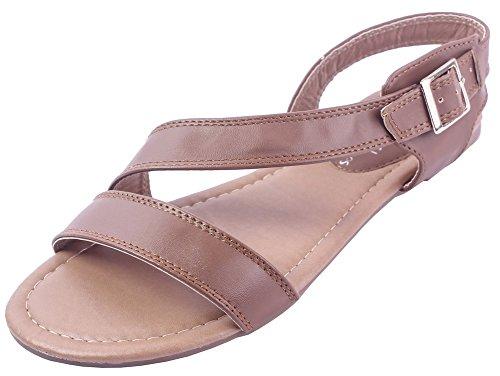 Ageemi Boucle Unie Non Brun Pu Sandales Cuir Shoes 26 Talon Femmecouleur 7wr7O