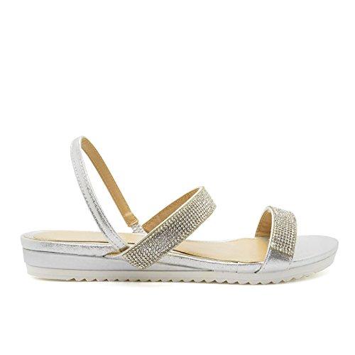 London Footwear - Sandalias mujer plata