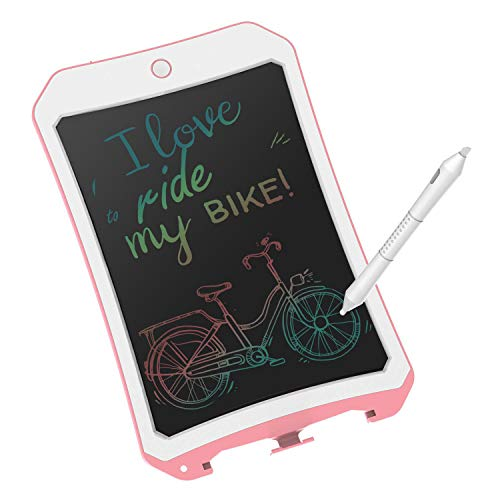 8.5 inch Writing &Drawing Board Doodle Board Toys for Kids,XIYITOY Birthday Gift for 4-5 Years Old Kids & Adults Color LCD Writing Tablet with Stylus Smart Paper for Drawing Writer ((Pink&White) ()