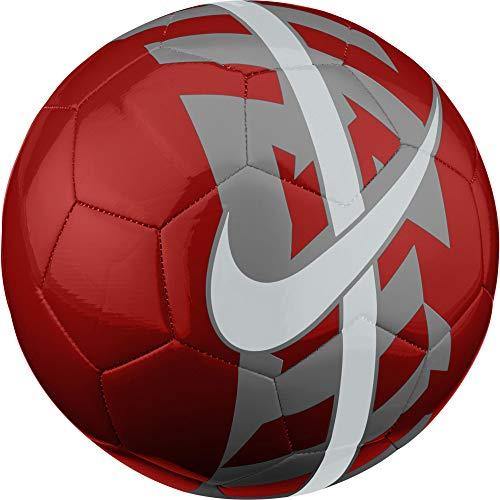 NIKE React Soccer Ball Crimson/Dark Grey/White Size 4