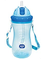 Wee Baby Cup with Straw, Blue - 340 ml