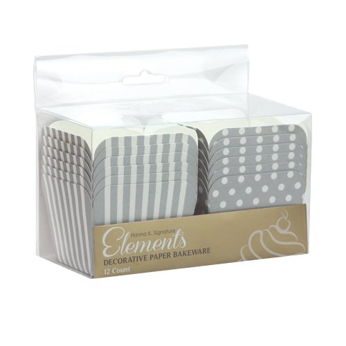 Signature Brownies - Hanna K. Signature 12 Count Elements Square Baking Cups, 2