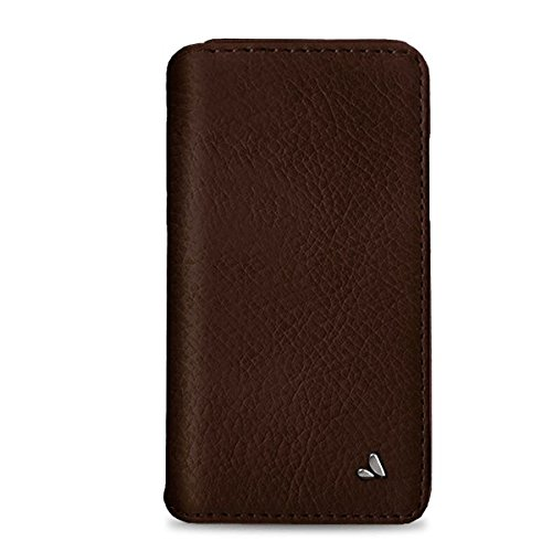 - Vaja Wallet Agenda Leather Case for iPhone X - Hard Polycarbonate Frame, 4 Credit Card Slots - Pinecone and London