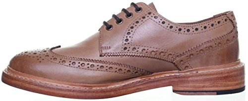 - Justin Reece GoodYear Welted Mens Lace up Brogue Leathersole Shoe (41.5 EU, Tan)