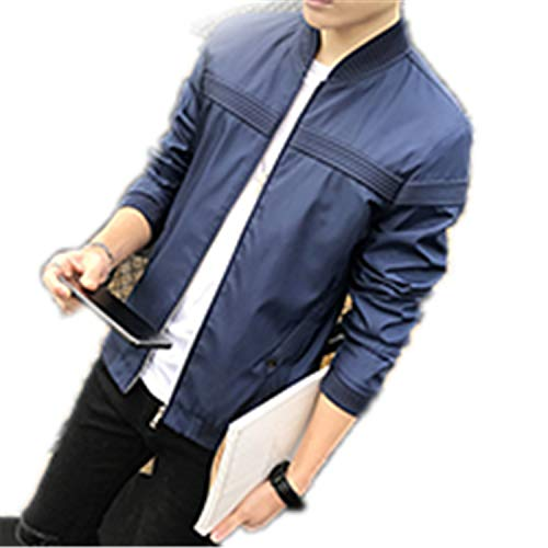 - Man's Brand Jacket Fashion Slim Teens Black Gray Blue Male Jacket Plus Size 4XL Chr