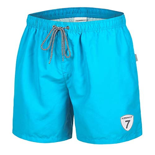 anqier Mens Swim Trunks Quick Dry Swim Shorts with Mesh Lining Swimwear Bathing Suits