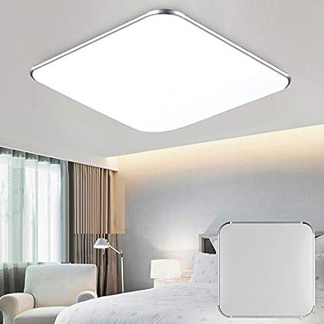 52 Yuanline 48w de techo del LED 9 cm luces de techo blanca dormitorio c/álido Plaza 2200lm 2800K-3500K Interior moderno de la l/ámpara de techo 52
