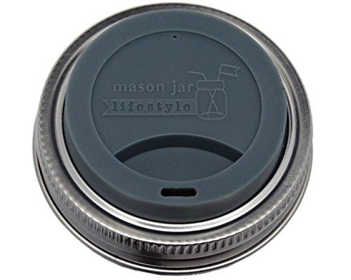 4 ounce mason jars plastic lids - 6