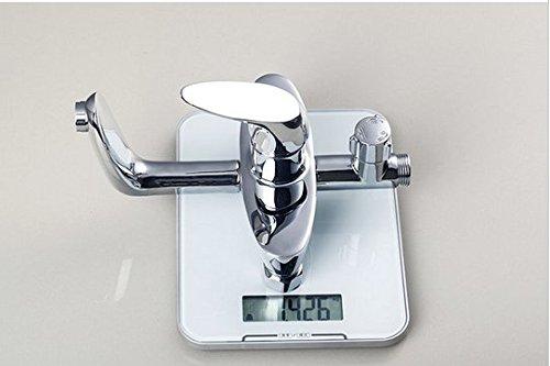 GOWE Single Handle Chrome Brass Water Pressure Boosting Bathroom Rain 8