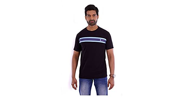 2a23e70dc5 Elyt Club Premium Quality Trendy & Comfortable Men's Single Stripe T-Shirt  Black: Amazon.in: Baby