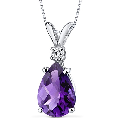 14 Karat White Gold Pear Shape 1.50 Carats Amethyst Diamond (White Amethyst)