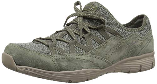 Quarter Verde Bow zip Line Mujer on Fit Skechers Seager Para Tenis Slip fixed Oliva x7ZRXw