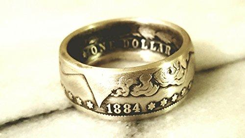 (MORGAN SILVER DOLLAR COIN RING -.90 SILVER)