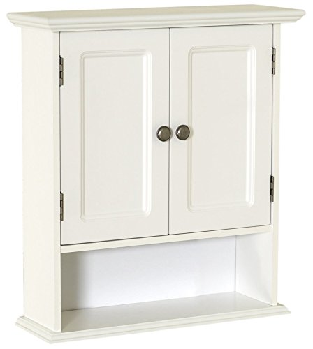 Zenna Home 9918WWA Collette Wall Cabinet, White ()