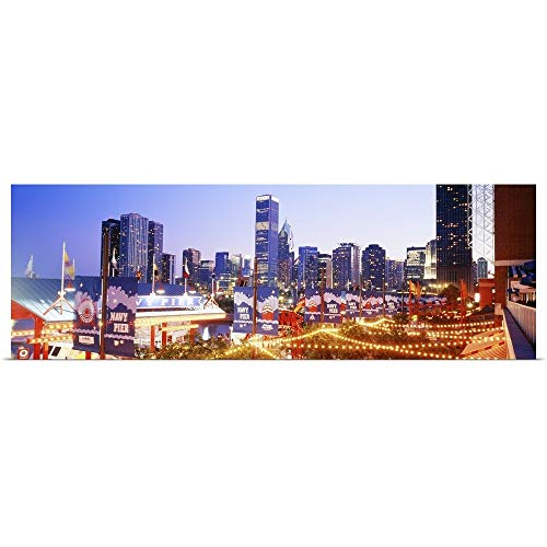GREATBIGCANVAS Poster Print Entitled Navy Pier Chicago IL by 36