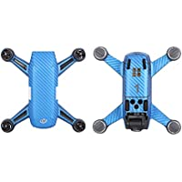 Drone Fans Carbon Graphic Stickers Blue Decals Drone Body Battery Skin Waterproof PVC for DJI Spark Drone