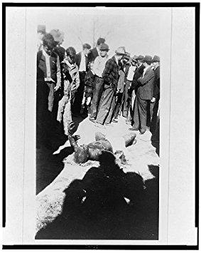 Photo: Lynching, Sikeston, Scott County, Missouri, MO, spectators, burned body, Cleo Wright? . Size: