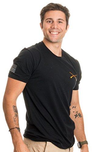 Infantry Crossed Muskets   Sleeve Flag   U S  Military Army Veteran Branch Shirt  Black 2Xl