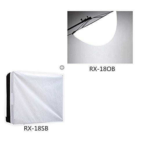 Falcon Eyes Soft Box Spread Soft Box Diffuser RX-18OB+Standard Softbox Diffuser RX-18SB for RX-18T,RX-18TD Video Light (RX-18OB+RX-18SB)
