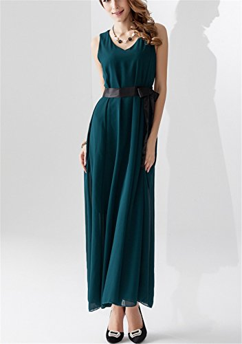 YOGLY Damen Kleider A line Chiffon Dress Summer Kurzarm Sommer ...