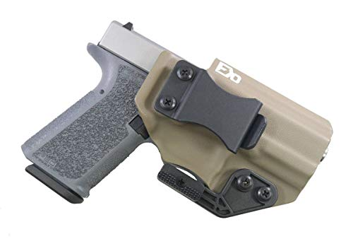 FDO Industries -Formerly Fierce Defender- IWB Kydex Holster Polymer 80 Compact -Optic Cut- (PF940C) (19/23) -The Paladin Series -Made in USA- (Flat Dark Earth) ()