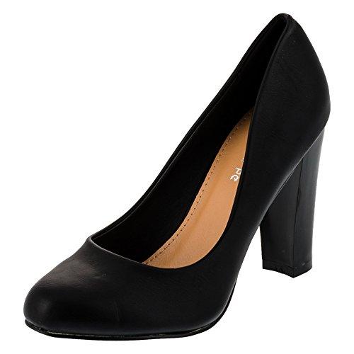 Le Scarpe Damen Pumps High Heels Blockabsatz Party Schuhe in Vielen Farben M300sw1 Schwarz Gr.38