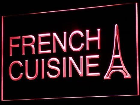 ADVPRO Cartel Luminoso i437-b French Cuisine Cafe Restaurant ...