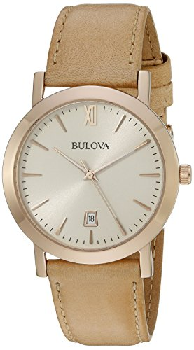 Bulova Men's 97B144 Classic Analog Display Quartz Beige Watch