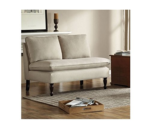 Toulouse Beige French Contemporary Seam Loveseat