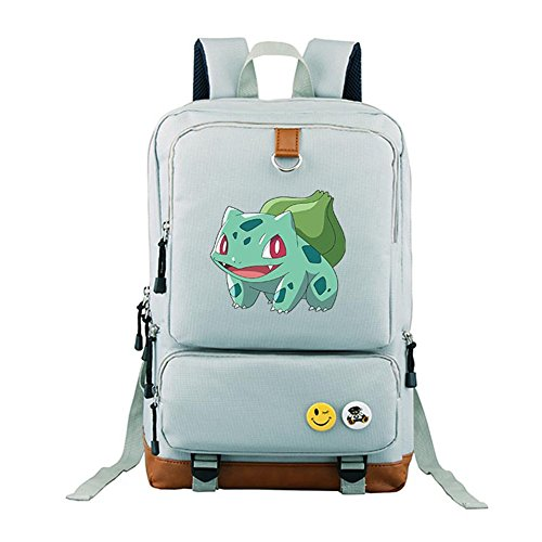 YOURNELO Cartoon Pokemon Rucksack School Backpack Bookbag for