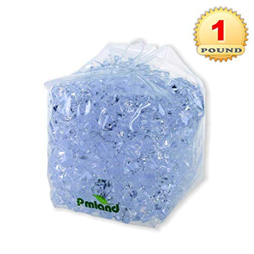 PMLAND Translucent Acrylic Ice Rocks 1 Lbs, Vase Filler or Table Decorating Idea-Clear for $<!--$6.85-->