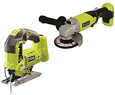 Factory Reconditioned Ryobi 2 Tool Kit ZRP421 Angle Grinder and ZRP523 Jig Saw