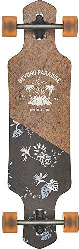GLOBE Skateboards Geminon 35 Longboard Complete Skateboard, Coconut Nectar