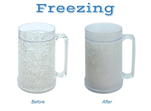 Double Wall Gel Frosty Freezer Mugs 16oz Set Of Two