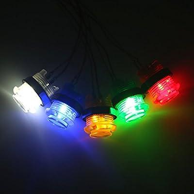5x 30mm Arcade luces LED Botón pulsador incorporado 5V Botones iluminados para Arcade Machine Games Kit DIY Piezas Jamma Mame Raspberry Pi 1 2 3 (Cada color de 1 pieza) 5 Color: Videojuegos