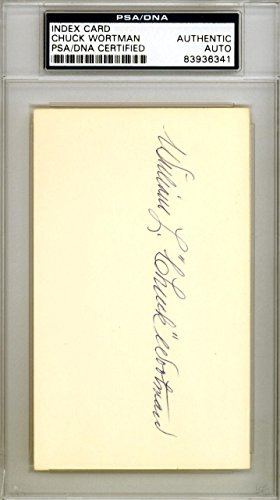 Chuck Wortman Autographed Signed 3x5 Index Card Chicago Cubs #83936341 PSA/DNA Certified MLB Cut Signatures