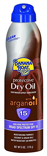 Banana Boat Continuous Spf#15 Spray Dry Oil With Argan Oil 6 Ounce (177ml)