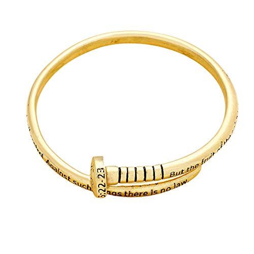 Lola Bella Gifts Goldtone Galatians 5:22-23 Nail Shaped for sale  Delivered anywhere in USA