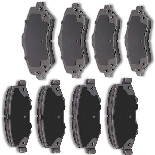 Dodge Nitro Jeep Wrangler - AUTOMUTO 8pcs Front Rear Ceramic Pads Brakes fit for 2007 2008 2009 2010 2011 Dodge Nitro,2008-2012 Jeep Liberty,2007-2016 Jeep Wrangler