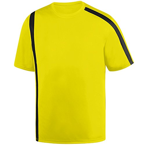 Wholesale Kids Soccer Jersey (Augusta Sportswear Boys' Attacking Third Jersey L Power Yellow/Black)
