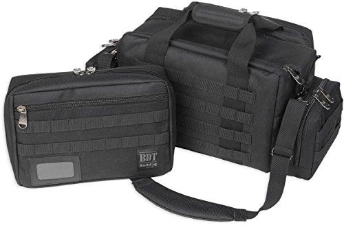 Bulldog Cases Extra Large Molle Tactical Range Bag Black, - Large Extra Pistol